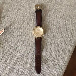 MK Gorgeous Leather Watch